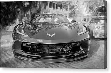 2017 Chevrolet Corvette Gran Sport Bw Canvas Print by Rich Franco