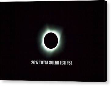 Canvas Print - 2017 Total Solar Eclipse by David Gn