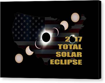 Canvas Print - 2017 Total Solar Eclipse Across America by David Gn