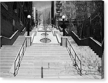 215th Street Stairs Canvas Print