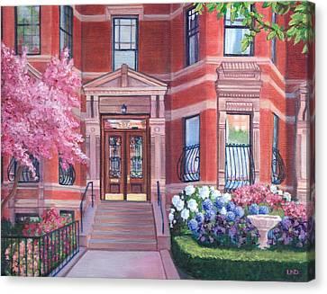 238 Marlborough Street Canvas Print by Laura DeDonato