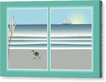 24x36 Window On The Water Canvas Print by Steve Smyth