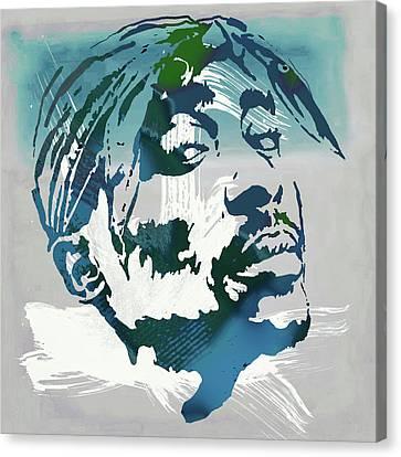 2pac Tupac Shakur Pop Art Poster Canvas Print by Kim Wang