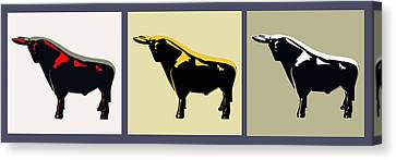 3 Bulls Canvas Print by Slade Roberts