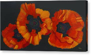 3 Poppies Canvas Print