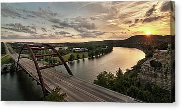 360 Bridge Sunset Canvas Print by Todd Aaron