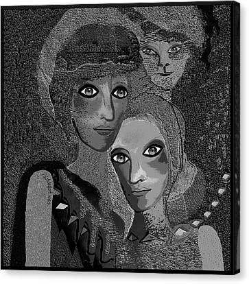 Canvas Print featuring the digital art 451 - To Lean On by Irmgard Schoendorf Welch