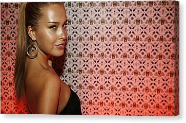 Petra Canvas Print - 52952 Petra Nemcova Hazel Eyes Blonde Face Women by Anne Pool