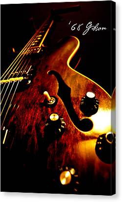 Gibson Guitar Canvas Print - '68 Gibson by Christopher Gaston