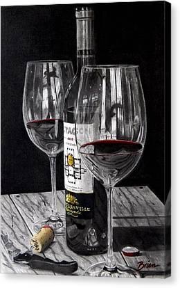 Virginia Wine Canvas Print - 91 Points by Brien Cole