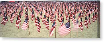 Patriotism Canvas Print - 911 Tribute Flags, Pepperdine by Panoramic Images