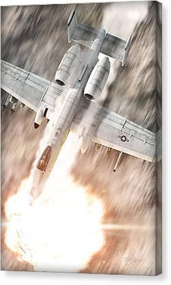 A-10 Thunderbolt II Canvas Print by David Collins