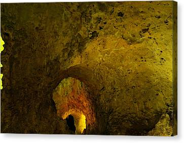 A Cave Within A Cave Canvas Print by Jeff Swan