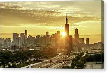 A Chicago Sunrise Canvas Print