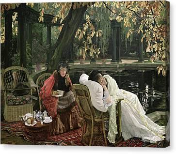 A Convalescent  Canvas Print by James Jacques Joseph Tissot