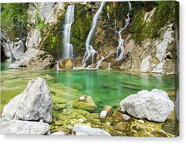 A Corner Of Paradise In The Julian Alps Canvas Print by Nicola Simeoni