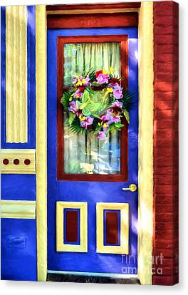 Panel Door Canvas Print - A Door Of Many Colors # 2 by Mel Steinhauer