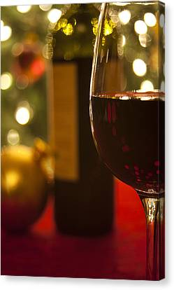 Wine Bottle Canvas Print - A Drink By The Tree by Andrew Soundarajan