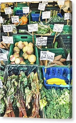A Farmers' Market Canvas Print by Tom Gowanlock