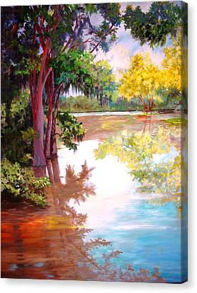 Canvas Print featuring the painting A Fine Day by AnnE Dentler