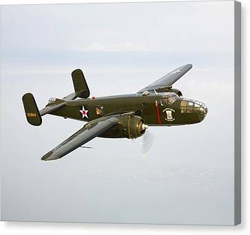 A North American B-25 Mitchell Canvas Print by Scott Germain