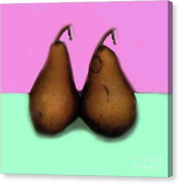 A Pair Of Pears Canvas Print by Madeline Ellis