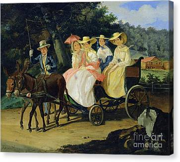 A Run Canvas Print by Aleksandr Pavlovich Bryullov