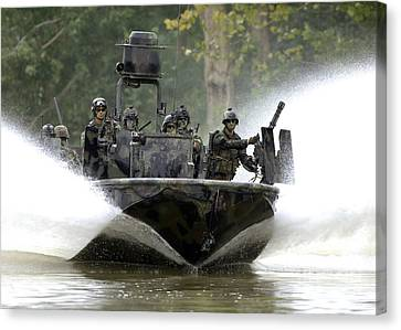 A Special Operations Craft Riverine Canvas Print by Stocktrek Images