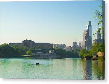 Canvas Print featuring the photograph A Spring Morning In Philadelphia by Bill Cannon