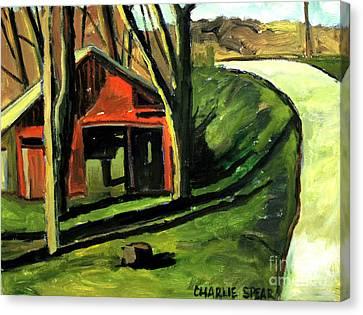 A Spring Noon Near Weasau Creek Plein Air Canvas Print by Charlie Spear