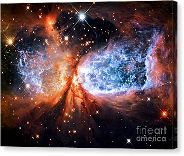 A Star Is Born Golden Canvas Print by Johari Smith