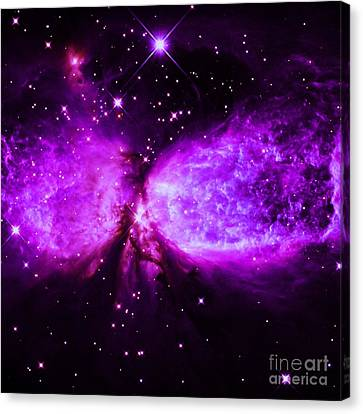 A Star Is Born Purple Canvas Print