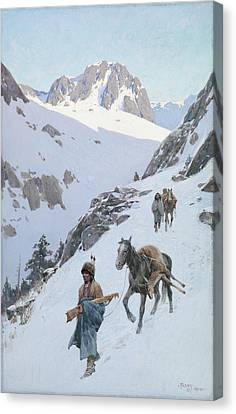 A Successful Hunt Canvas Print