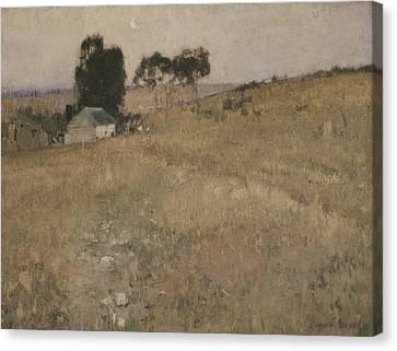 A Summer Evening Canvas Print - A Summer Evening by David Davies