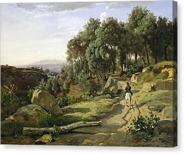 A View Near Volterra Canvas Print