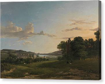 A View Of Cessford And The Village Of Caverton, Roxboroughshire In The Distance  Canvas Print by Patrick Nasmyth