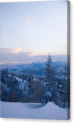 A View Out Over The Mountains Of Utah Canvas Print by Taylor S. Kennedy