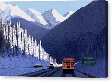 A Winter Drive In British Columbia Canvas Print by Neil Woodward