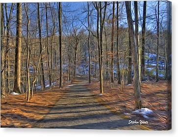A Winter's Walk Canvas Print by Stephen Younts
