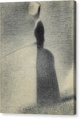 Seurat Canvas Print - A Woman Fishing by Georges-Pierre Seurat