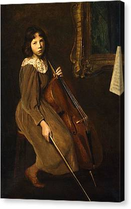 A Young Violoncellist Canvas Print by MotionAge Designs