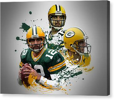 Aaron Rodgers Packers Canvas Print by Joe Hamilton
