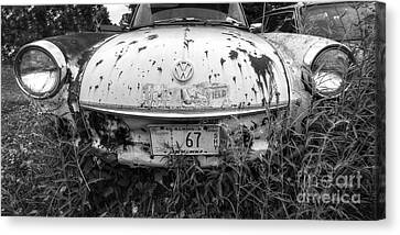 Abaondoned Car Along Route 66 Canvas Print by Twenty Two North Photography