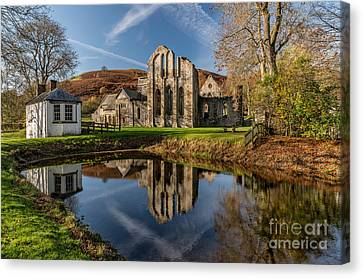 Abbey Reflection Canvas Print by Adrian Evans