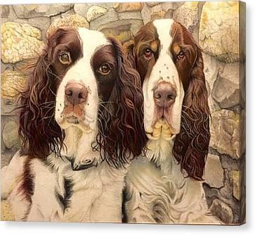 David Hoque Canvas Print - Abby And Romeo by David Hoque