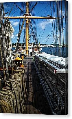 Canvas Print featuring the photograph Aboard The Eagle by Karol Livote
