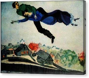 Above The Town Canvas Print by Chagall