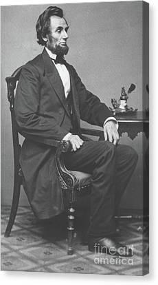 Abraham Lincoln Canvas Print by Alexander Gardner