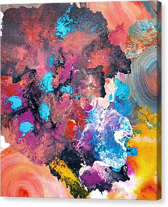 Abstract Acrylic Painting Picture Canvas Print by Sumit Mehndiratta