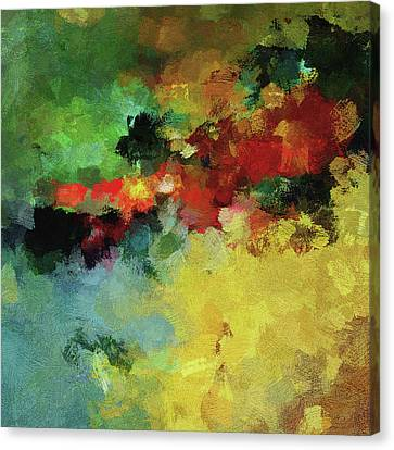 Canvas Print featuring the painting Abstract And Minimalist  Landscape Painting by Ayse Deniz